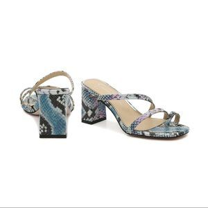 Blue/Purple Snake Print Sandal
